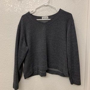 Vintage Cropped Gary Pullover Sweater